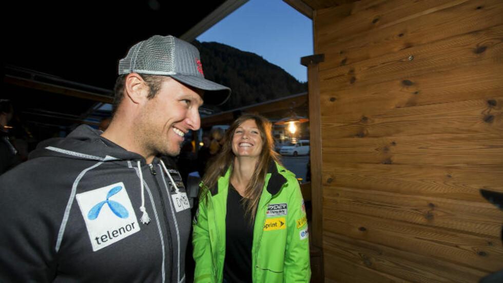 TROR PÅ JULIA: Aksel Lund Svindal er ikke i tvil om at kjæresten vil beherske verdens tøffeste skibakke.