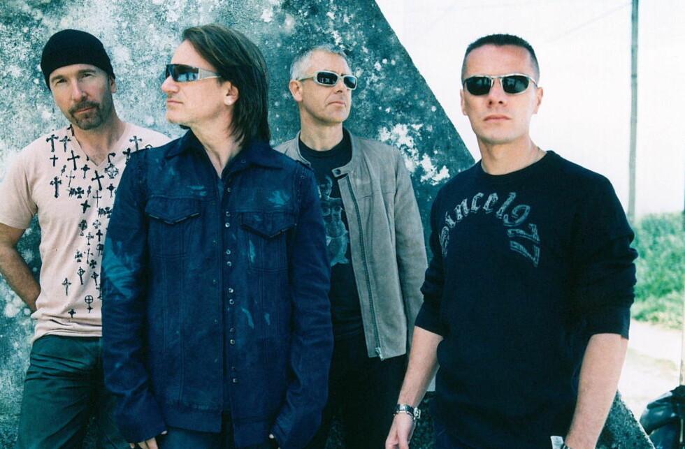 TO JOBBER: U2 spiller inn sitt 13. album. Det kombinerer trommeslager Larry Mullen jr. (til høyre) med sin norske filmrolle. Her i et promobilde fra noen år tilbake.