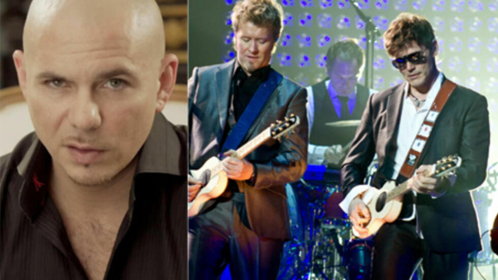 FAN AV A-HA:  Rapper og hitmaskin Pitbull skal være stor fan av A-ha, ifølge A-has manager Harald Wiik. Foto: Stella pictures