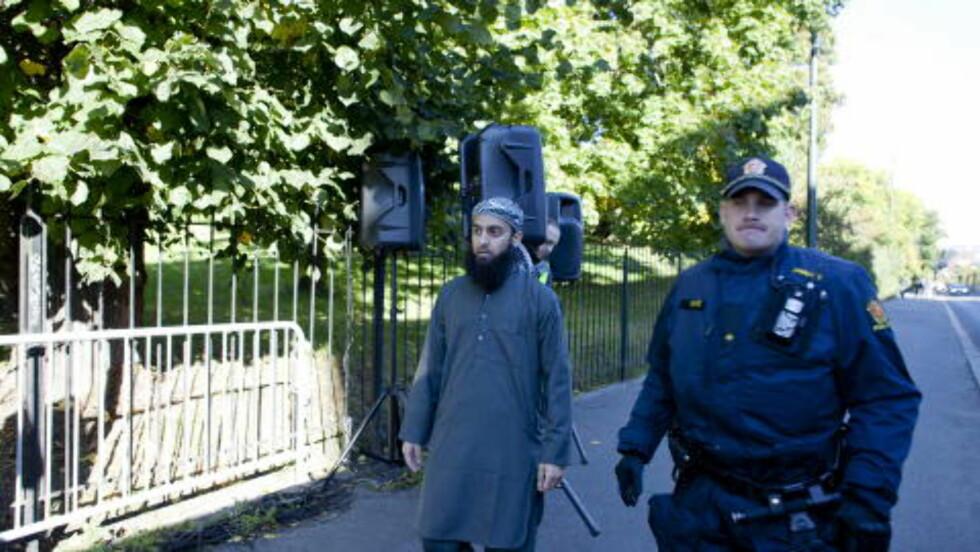 ISLAMIST: Ubaydullah Hussain er talsmann for den radikale islamist-gruppa «Profetens Ummah». Nå er han siktet for å ha truet journalister.  Foto: Sara Estiri / Dagbladet