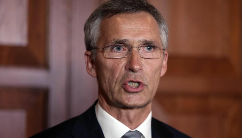 GRANSKES: Jens Stoltenberg og Norges krigføring i Libya må granskes. FOTO: NTB Scanpix