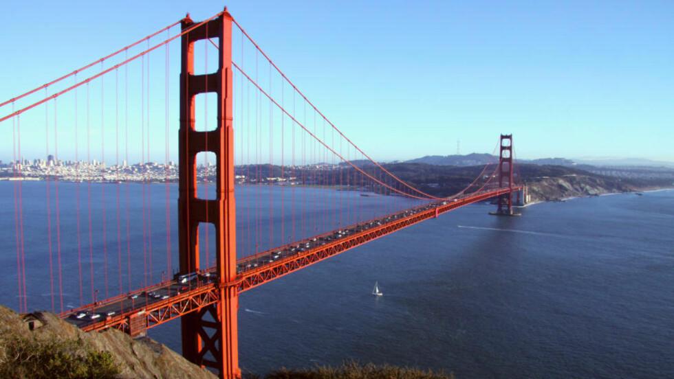 SAN FRANCISCO: Reiseguiden Lonely Planet har kåret San Francisco til vedens beste by å besøke i 2013. Her ser du brua Golden Gate. Foto: COLOURBOX