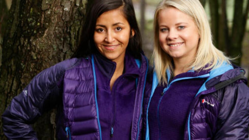 VENNINNER:  Priscila Merkesdal (23) og Linn Christine Pedersen (21) single Venninner fra Bergen. Foto: TV2