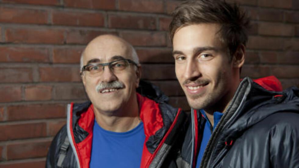 FAR OG SØNN:  Milorad (t.v.) og sønnen Dario Dunderovic (t.h) Foto: Anders Grønneberg/ Dagbladet