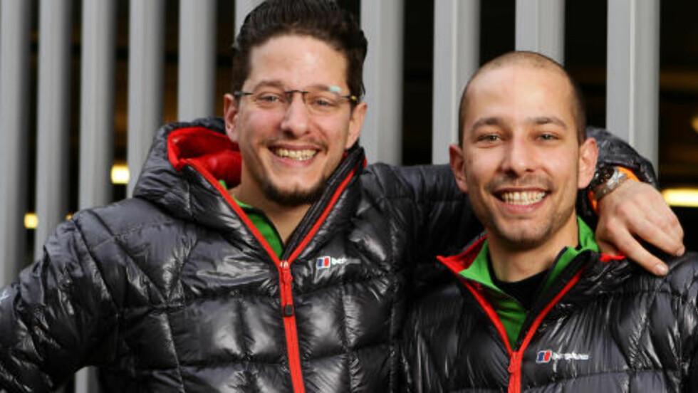 BRØDRE:  Omar Ishqair (28) samboer og Bilal Ishqair (26) singel, brødre fra Oslo. Foto: TV2