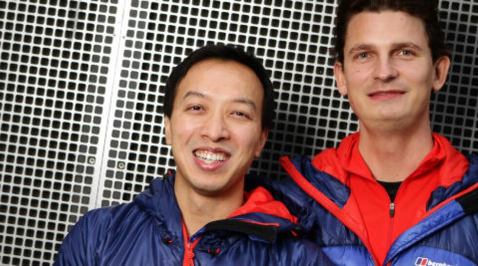 VENNER:  Vinh Thanh Phung (28) kjæreste og Terje Løvgro Stokke (29) kjæreste, kompiser fra Oslo. Foto: TV2