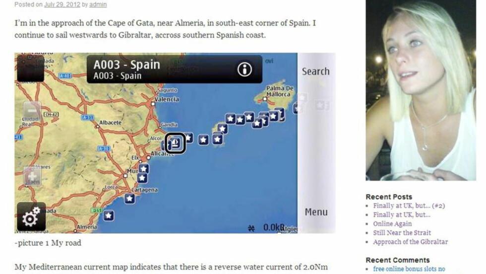 KART: Ramazan Noyan Culum la ut dette kartet over sin reise til Storbritannia for å finne den britiske kvinnen han hadde blitt besatt av. Foto:  SWNS.com / NTBScanpix