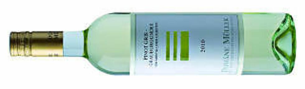 MEGET SKUFFENDE: Müller Pinot ris Grauburgunder 2010 - latterlig høy pris i forhold til kvaliteten.