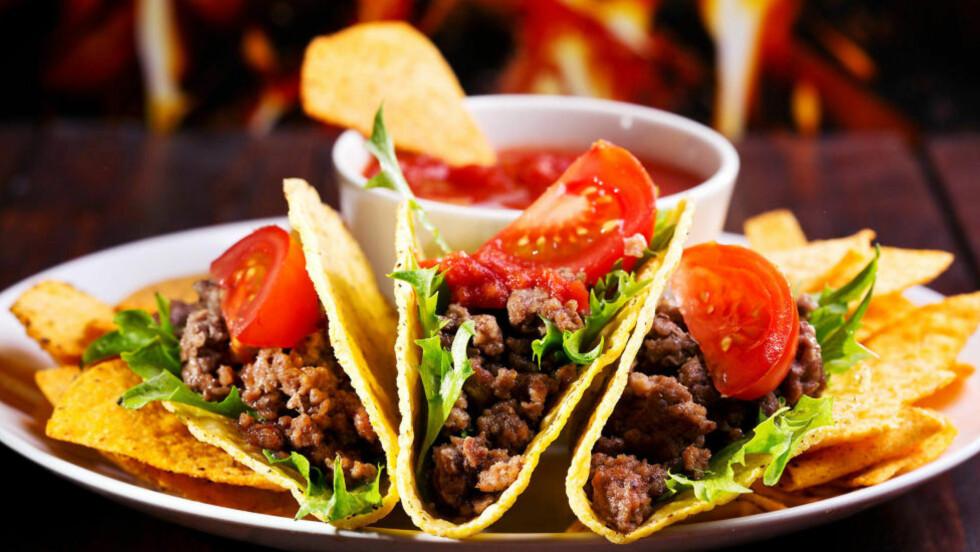 KLART FOR TACOFEST: Ikke dra fram kjellervinen, til taco passer det best med en litt enklere variant, mener Robert Lie. Foto: Colourbox