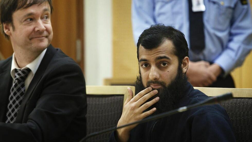 FRI: Høyesterett har bestemt at islamisten Ubaydullah Hussain ikke kan være i varetekt, fordi det ikke er grunnlag ettersiktelsen. Den ekstreme islamisten er siktet for flere grove trusler.  Foto: Christian Roth Christensen