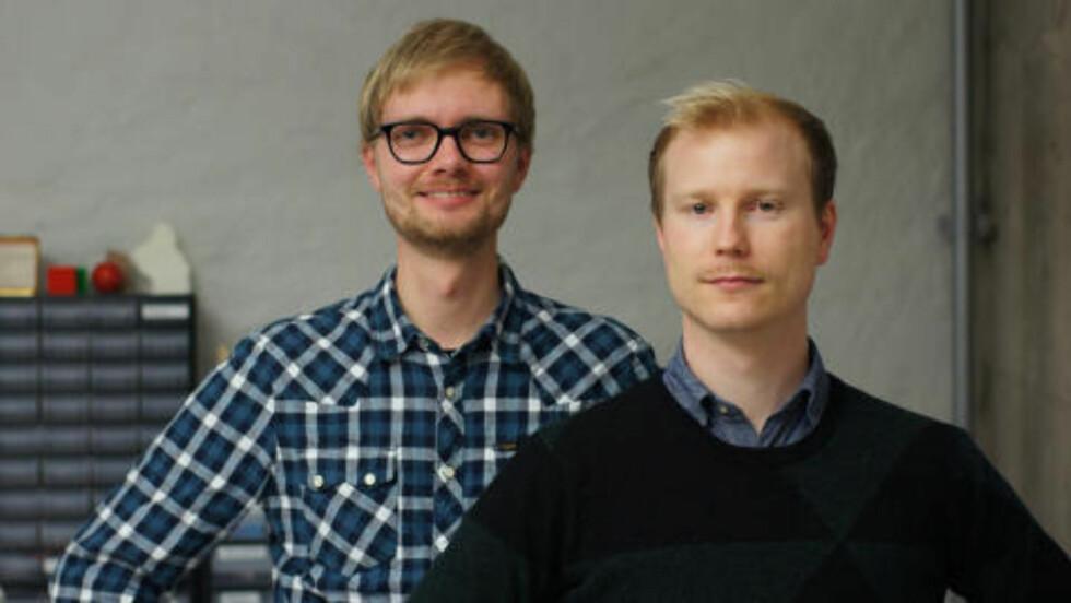 VINNERNE:  Einar Sneve Martinussen og Jørn Knutsen.