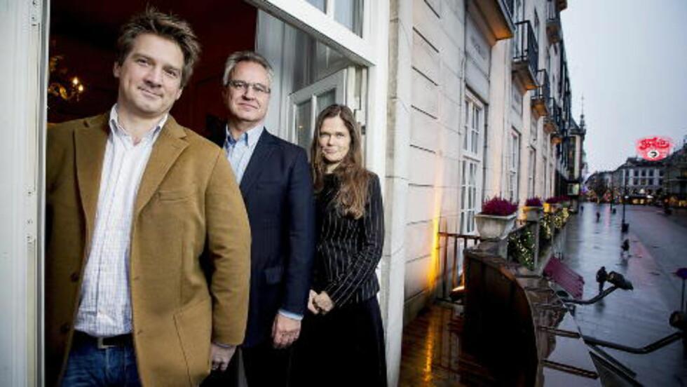 NOBEL JURY : Dagbladets fredsprisjury består av  Halvard Leira, Kristian Berg Harpviken  og Cecilie Hellestveit. Foto: Bjørn Langsem / Dagbladet.