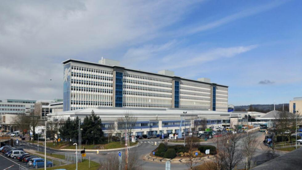 DØDE PÅ SYKEHUS: Ann Clwyds mann døde av lungebetennelse mens han lå her på universitetssykehuset i Cardiff. Foto: Wikimedia Commons