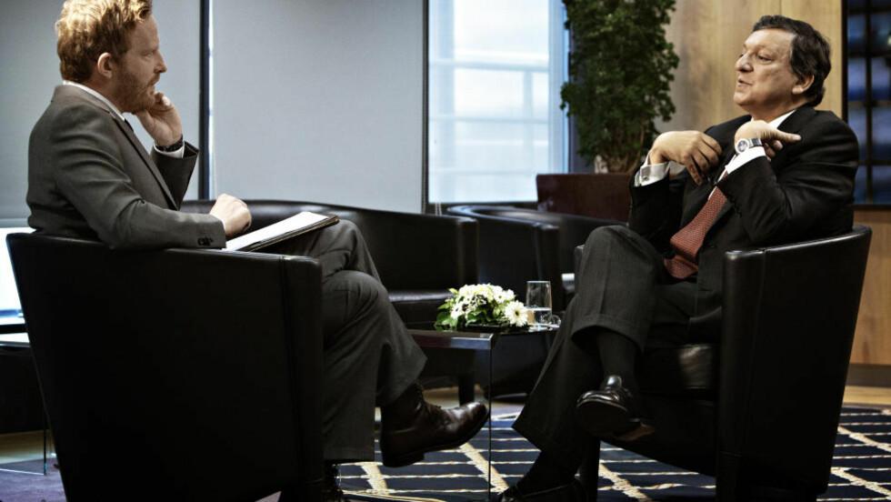 LØSNINGSORIENTERT: EU-kommisjonens president Barroso lytter til kritikken av årets fredspris - men mener kritikerne er urettferdige.  Foto: Jørn H. Moen / Dagbladet