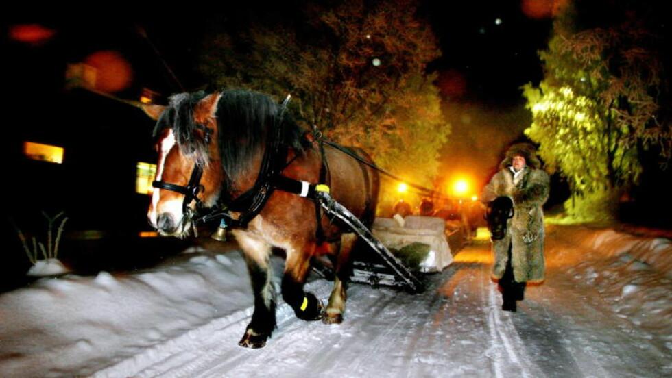KALD JUL: Kanefart på Røros med garantert snø og kuldegrader. Foto: ELISABETH SPERRE ALNES
