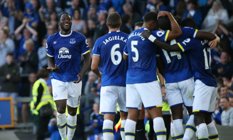 JUBLET: Everton og Romelu Lukaku kunne glede seg over en ny seier, denne gang over Middlesbrough. Foto: Scanpix