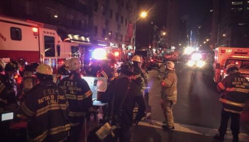 ÅSTED: En kraftig eksplosjon rystet Manhattan natt til søndag norsk tid. Foto: Øistein Norum Monsen / Dagbladet