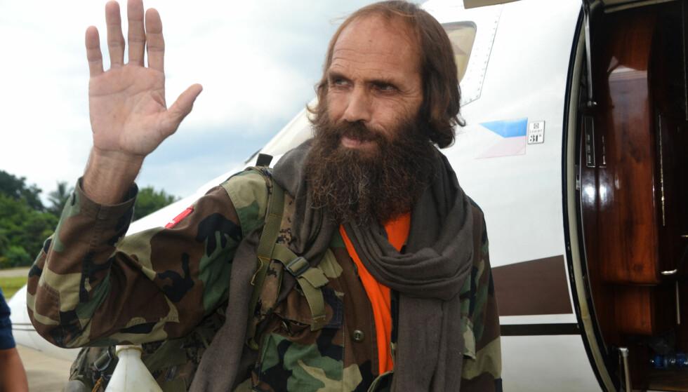 FRIGITT: Kjartan Sekkingstad ble frigitt av gisseltakerne i helga. Foto: AFP / NTB Scanpix.