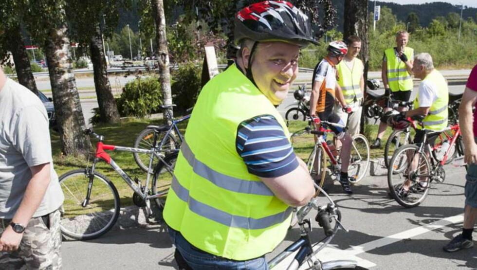 OPPTATT AV SAMFERDSEL: Bård Hoksrud er her fotografert i forbindelse med et sykkelarrangement i 2010.  FOTO: Per Flåthe / Dagbladet