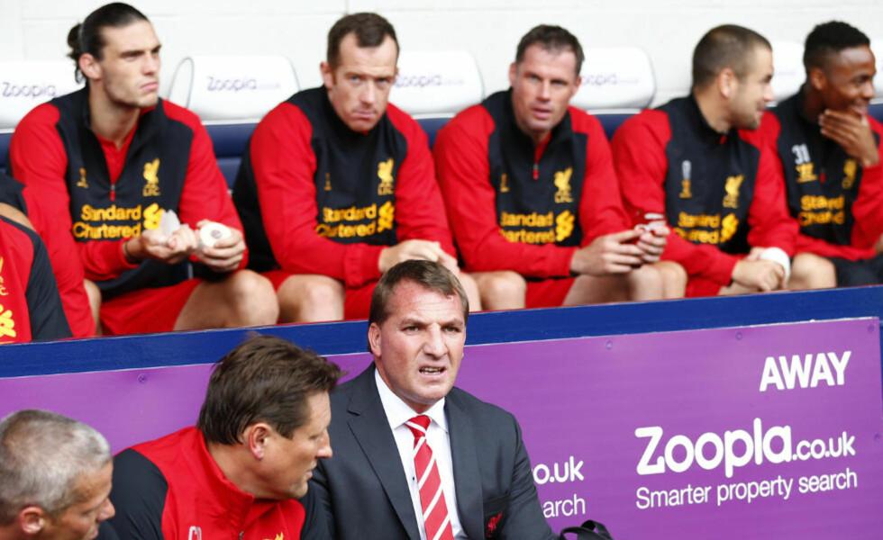STORTAP: Liverpools nye manager Brendan Rodgers tapte 3-0 mot WBA i ligastarten. Foto: REUTERS/Darren Staples