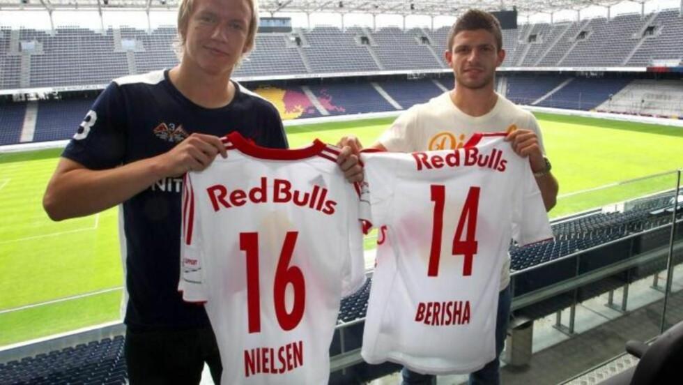 SCORET TRE: Håvard Nielsen scoret tre mål da Red Bull Salzburg spilte 4-4 lørdag. Foto: Red Bull Salzburg.