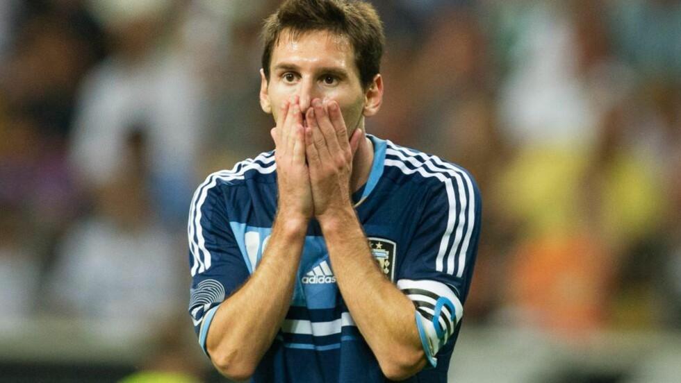 BUD FRA CITY: Manchester City la inn bud på Lionel Messi i 2008. Dette skjedde etter en misforståelse. Foto: EPA/UWE ANSPACH