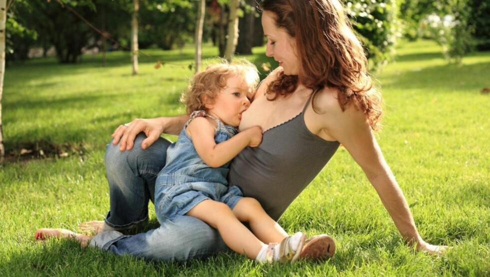 STORE BARN: I Norge er amming av store barn tabu, selv om det medfører blant annet store helsegevinster for både mor og barn. Illustrasjonsfoto: Colourbox.com