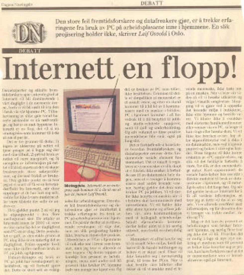 Trodde du dette om internettet i 1995?