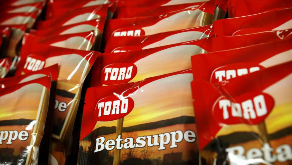 KJENT OG KJÆRT: Toros betasuppe er blant produktene fra nå Orkla-eide Rieber & Søn. Foto: ERLEND AAS / NTB SCANPIX