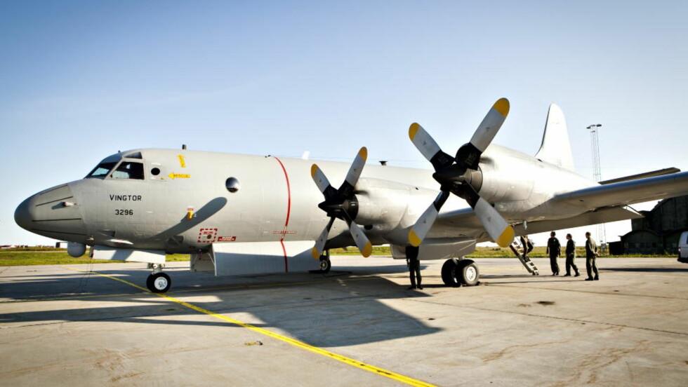 RØYKUTVIKLING: dette P-3C Orion-flyet, døpt «Vingtor», fra 333-skvadronen på Andøya måtte nødlande i Finnmark i dag tidlig med 15 personer om bord. Bildet er tatt ved en tidligere anledning. Foto: Geir Barstein / Dagbladet