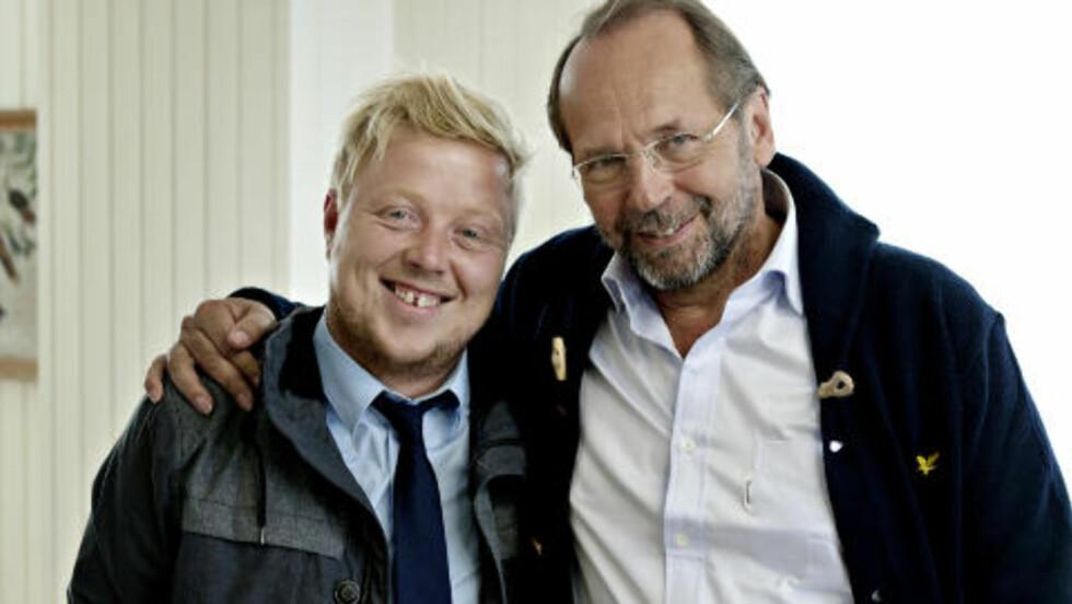FUNNET TONEN: Kurt Nilsen og Ole Paus har i løpet av seks dager rukket å bli gode venner. Foto: Torbjørn Katborg Grønning / Dagbladet
