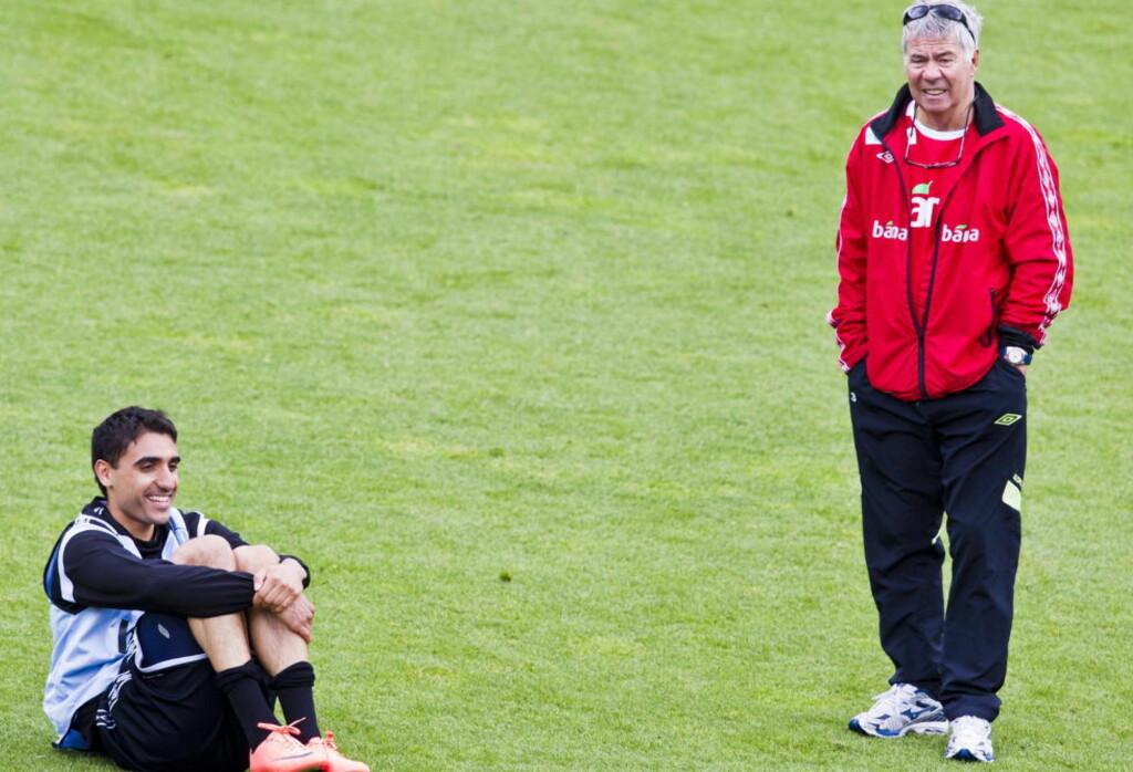 GOD NYHET: Mohammed Abdellaoue sto over dagens kamp for Hannover på grunn av ryggplager, men sier til Dagbladet at han regner med å være klar til Europa League-kamp på torsdag. Foto: VEGARD GRØTT / NTB SCANPIX