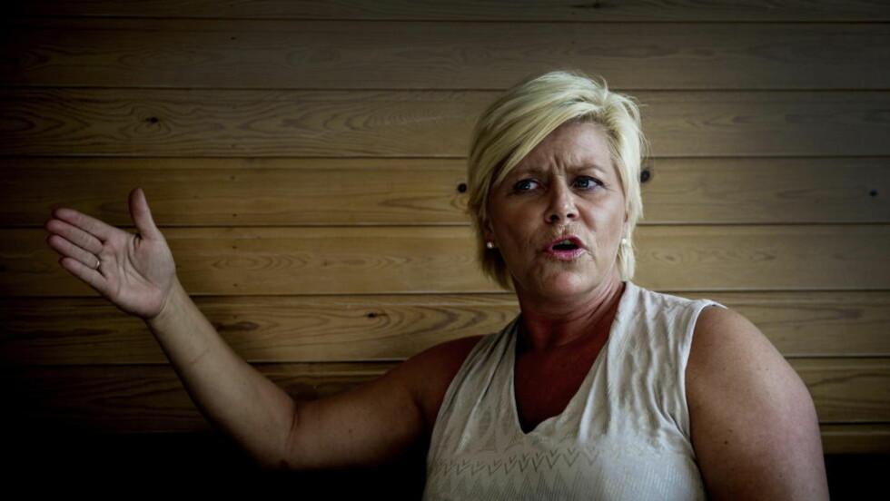 VIL STRAFFE STRENGERE: Siv Jensen minner om at Frp har ønsket strengere straffer i 30 år. Hun er klar for debatt om livstidsstraff i Norge i kjølvannet av 22. juli-terroren. - Nå vet vi at det mest uhyrlig kan skje i dette snille, lille landet, sier hun. Foto: John T. Pedersen / Dagbladet