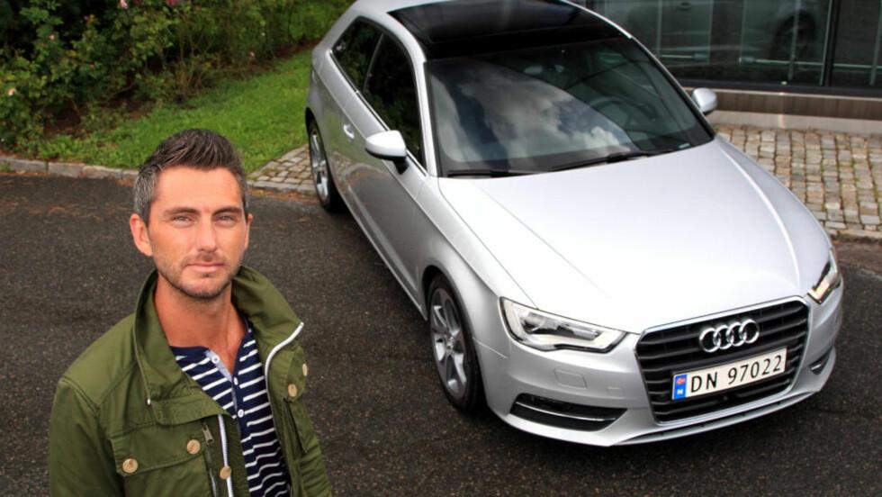 STATUS SELGER: Audis informasjonssjef Marius Tegneby venter storsalg av den kompakte A3. Foto: Egil Nordlien, HM Foto