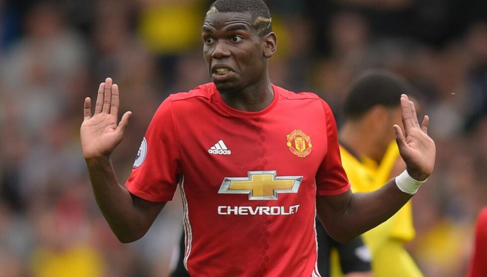 TILBAKE: Paul Pogba er tilbake i Manchester United, klubben han rømte fra for frire år siden etter et hissig møte mellom hans agent og klubbens manager. Foto: BPI / NTB scanpix
