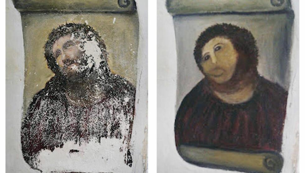 ET ANNET VERDISYN: «I en verden der fysisk perfekthet og skjønnhet stadig blir sett som ensbetydende med det beste, representerer Jesus? nye ansikt noe annet.», skriver artikkelforfatteren. Foto: HO-Centro de Estudios Borjanos / Reuters / NTB Scanpix