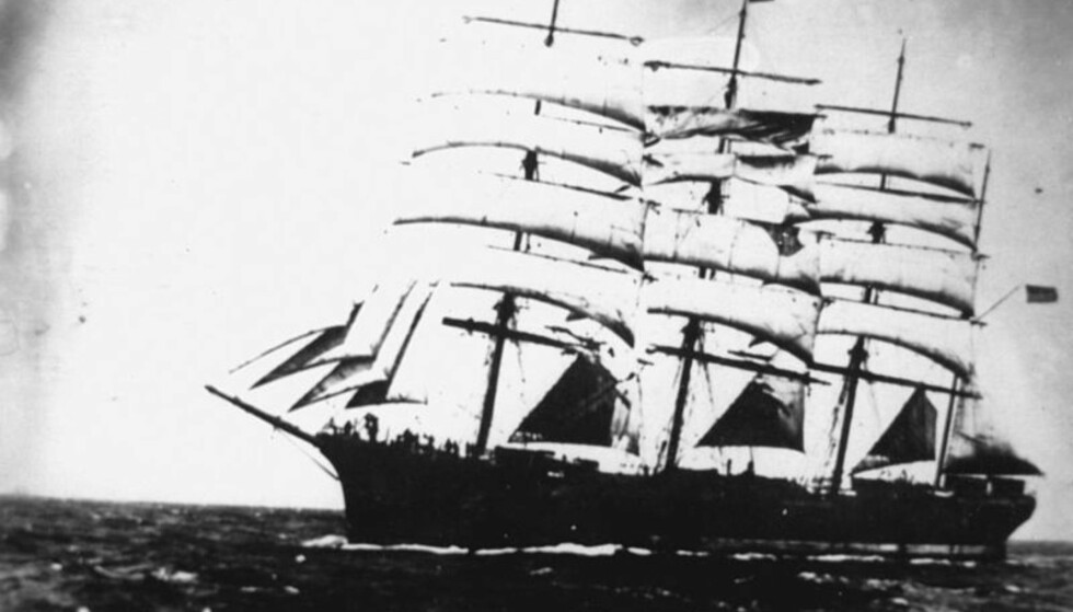 CAPTAIN SMEDSVIK: The Star of Lapland, which—according to Smedsvik—was the U.S.'s biggest sailing ship at the time, was only one of the enormous ships he captained. Foto: State Library of Queensland