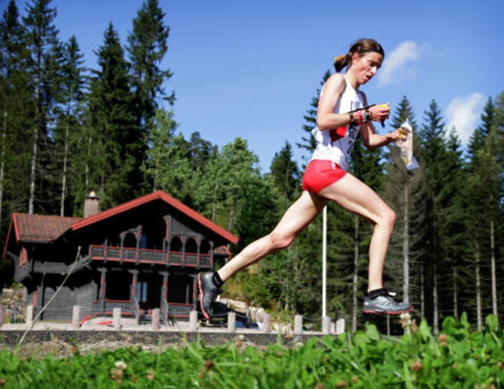 TILBAKE: Veteranen Anne Margrethe Hausken Nordberg var endelig tilbake på pallen. I Kollen-omgivelsene sprintet hun til bronse.Foto: Jens Olav Kløvrud/Dagbladet