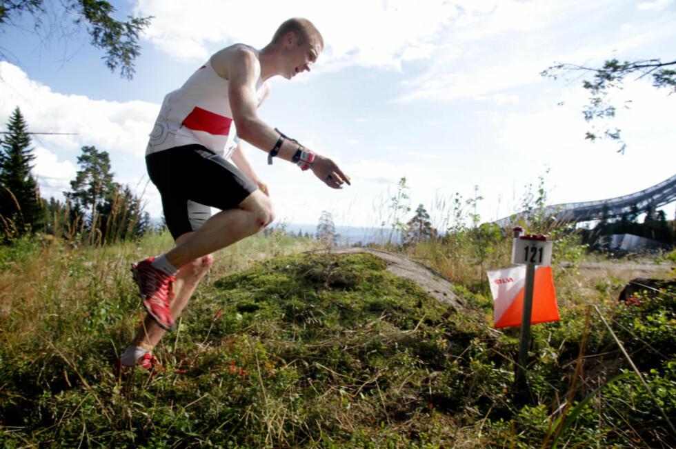 ENEREN: Olav Lundanes er var uslåelig siden han vant VM-gull i juli. I Holmenkollen vant han verdenscupen i sprint. Foto: Jens Olav Kløvrud/Dagbladet
