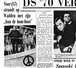 Anders J. Smedsvik used his five minutes of fame as he stranded in The Netherlands to advocate against nuclear bombs,