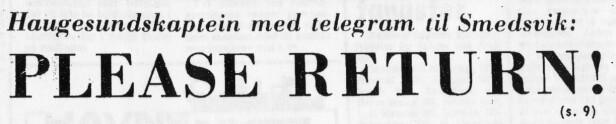 Clipping from Haugesunds Dagblad