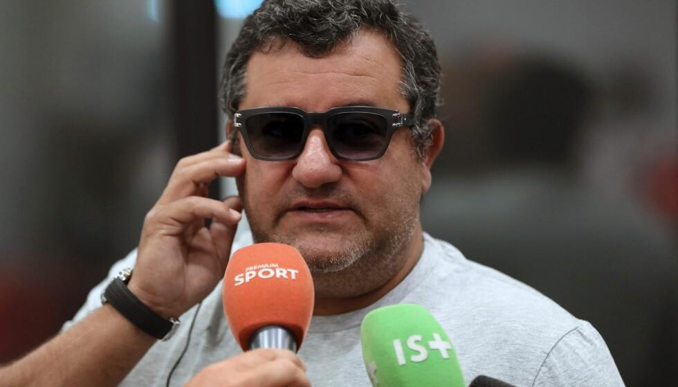 SUPERAGENT: Mino Raiola forteller i et eksklusivt intervju om uoverenskomstene med Klopp og Ferguson. Foto: AFP / NTB scanpix