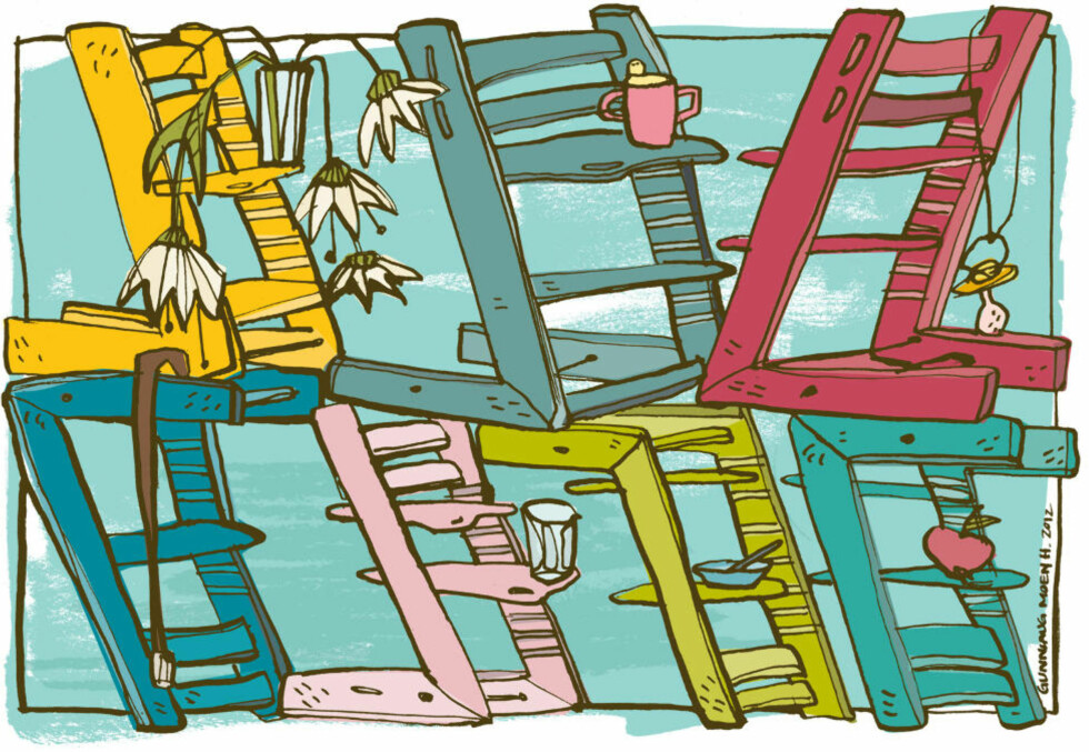 Tegning: Gunnlaug Moen