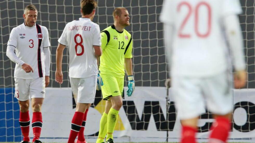 ROT: Håvard Nordtveit og Espen Bugge Pettersen var involvert i 1-0-målet .Foto:  Foto: Håkon Mosvold Larsen / NTB scanpix