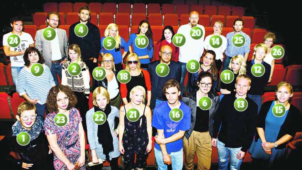 Bokdebutanter høsten 2012:  Her ser vi et knippe av høstens bokdebutanter. Nummerne referere seg til teksten under.   Foto: Nina Hansen / Dagbladet