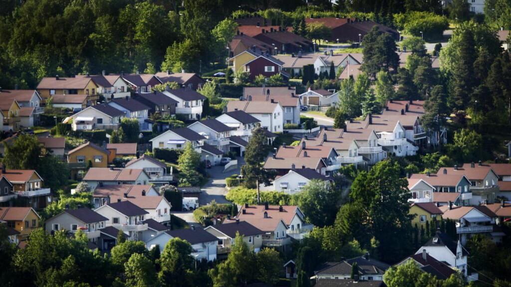SELVEIERE: Eneboligfelt på utsiden av Drammen. Foto: Bjørn Langsem / DAGBLADET.