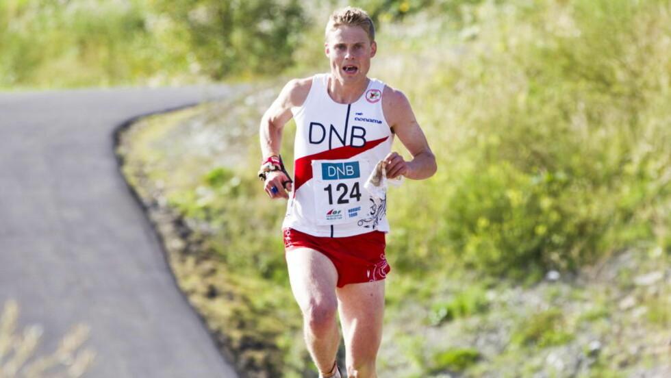 ETTERLENGTET SEIER: Carl Waaler Kaas tok sitt første NM-gull i karrieren med seieren på langdistanse i Maridalen.Foto: Vegard Grøtt / NTB Scanpix