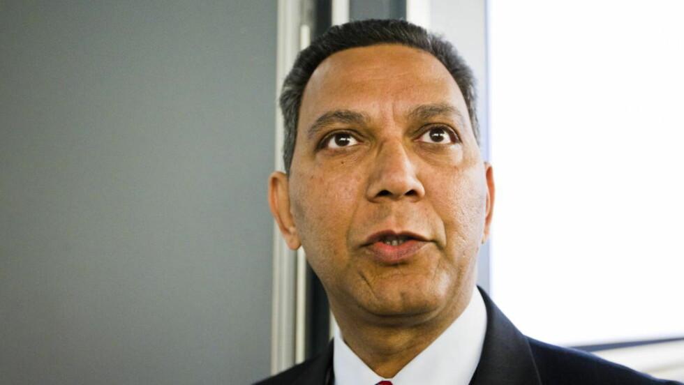 - BARBARI: - Dette er barbari, sier visepresident på Stortinget, Akhtar Chaudhry (SV). Han er rystet over Dagbladets avsløringer fra det brutale sexmarkedet i Norge. Foto: BERIT ROALD/SCANPIX