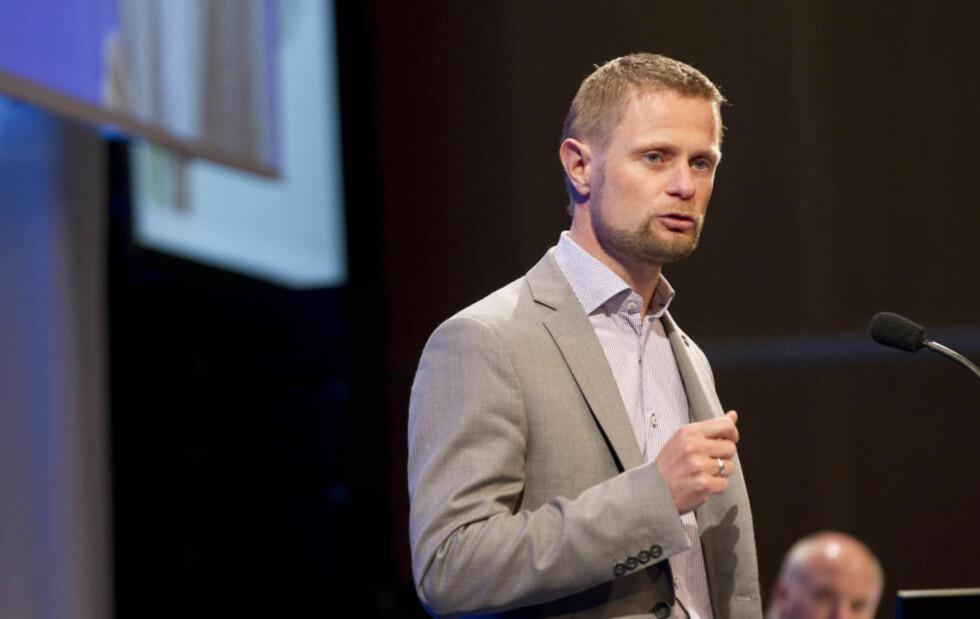 BLÅ-NORGE: Høyre-nestleder Bent Høie har ledet partiets arbeid med nytt program. I dag la han frem resultatet. Foto: Terje Bendiksby / NTB scanpix