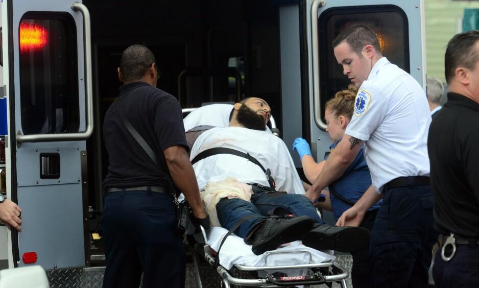 SKADESKUTT: Ahmad Khan Rahami (28) ble skutt og såret under pågripelsen i New Jersey i dag. Foto: Tariq Zehawi / North Jersey Media Group / NTB Scanpix